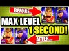 HOW TO GET LEVEL 65 HEROES IN 1 SECOND! - Clash Of Clans 201...