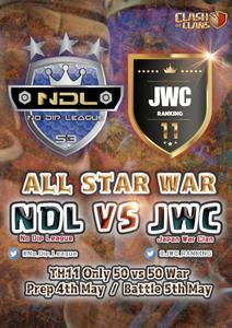 NDL ALLSTARS vs JWC ALLSTARS is coming on beginning of May!!
