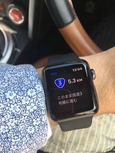 ドライブのマストアイテムとなったApple Watch!