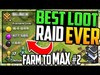 HUGE Loot! Biggest Raid YET in Clash of Clans Farm to MAX Ep