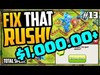 $1,000 Got Me HOW Far?! GEM, MAX, Fix That Rush - Clash of C